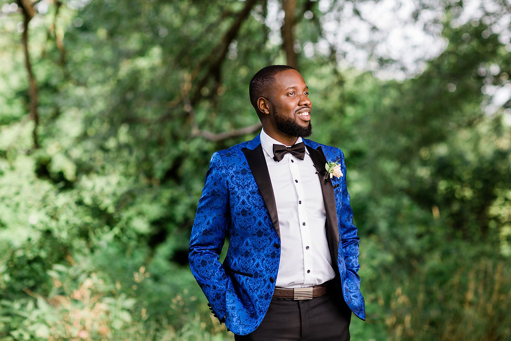 wedding groom style blue tux