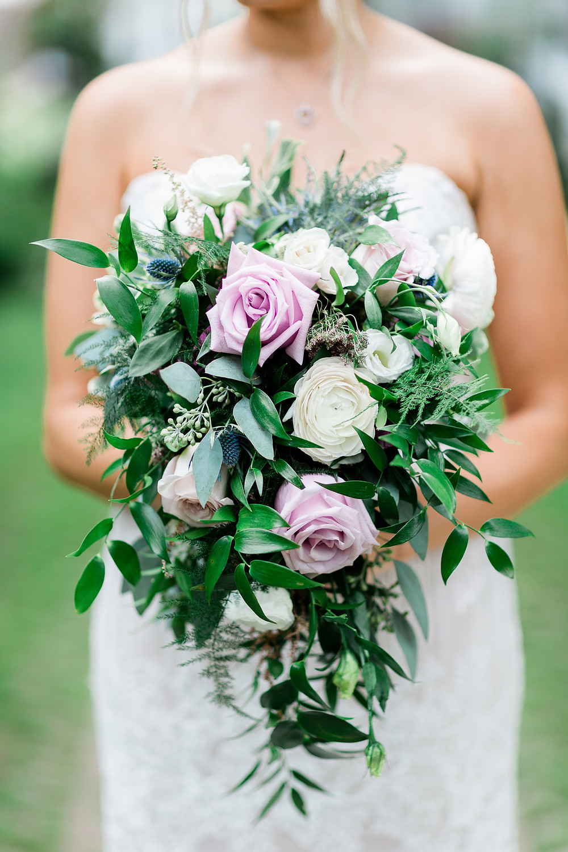 pink fountain bridal bouquet