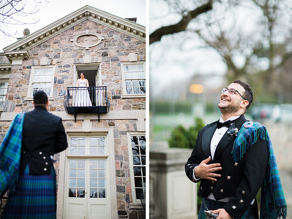 graydon hall manor wedding first look