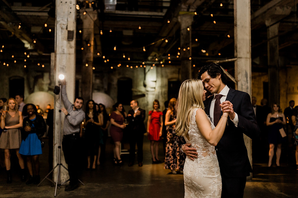 bride and groom first dance fermenting cellar toronto