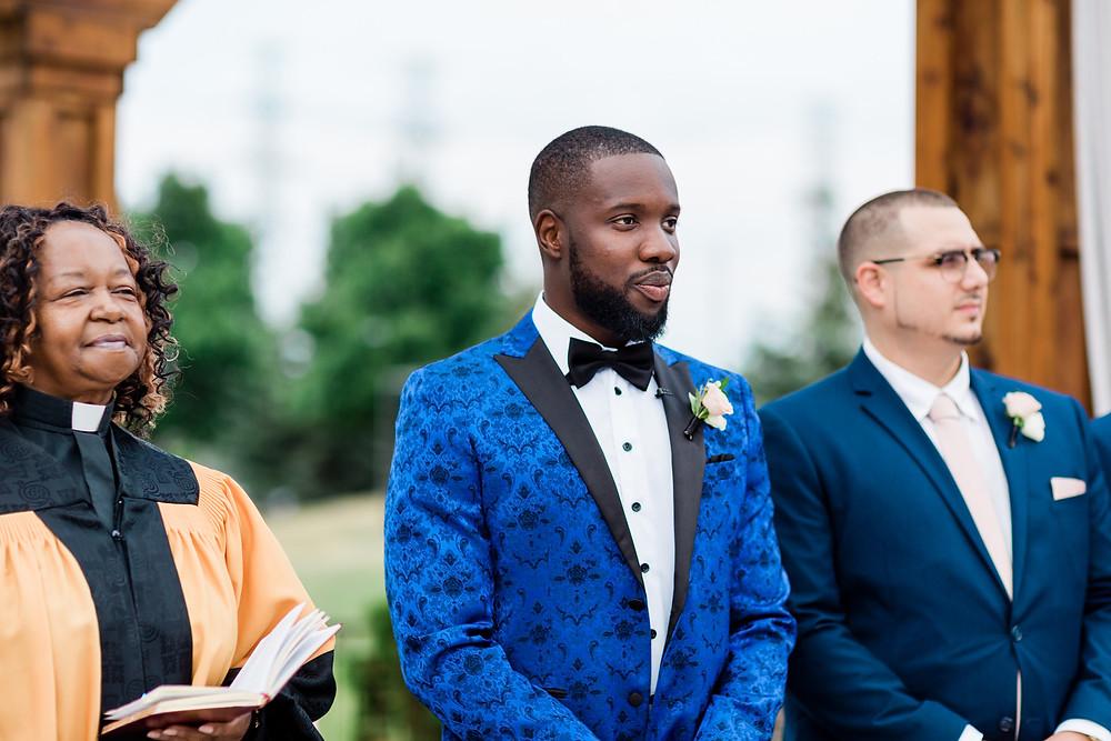groom reaction wedding ceremony