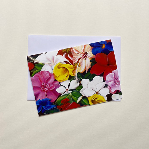 Tropical Flowers / Greeting Card