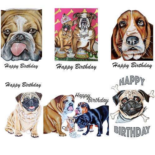 6 Happy Birthday selection / Happy Birthday Card