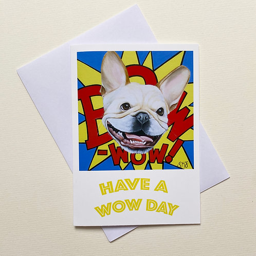 Bow Wow / Greeting Card