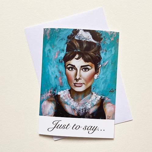 Audrey Hepburn / Greeting Card