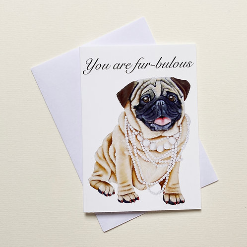 Pearl the Pug / Greeting Card