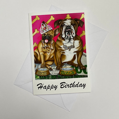 Diamond Dogs / Happy Birthday Card