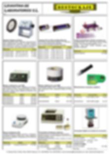 Agitadores, Lamparas UV, Refractometros, Micoscopios, Lupas, Electroforesis, Mantas, Laboratorio