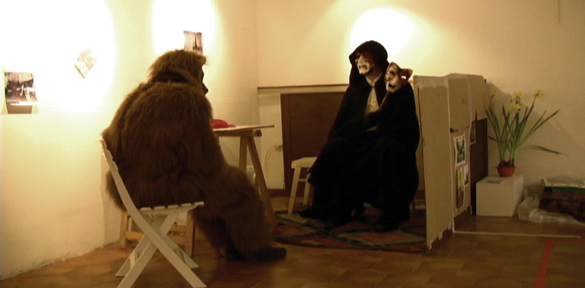 Mistery Man and Gustav the Bear