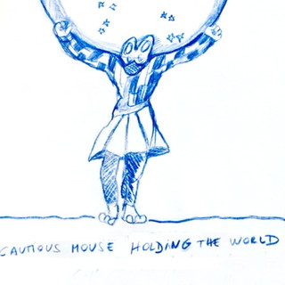Cautious Mouse Holding the World