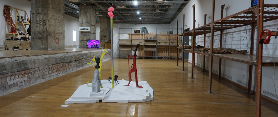 Exhibition view with work by Cristian Raduta