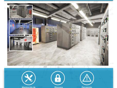 Simulador de realidad virtual en evaluación de controles críticos con y sin energía.