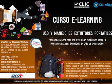"""E-learning de """"Uso y Manejo de extintores portátiles"""""""