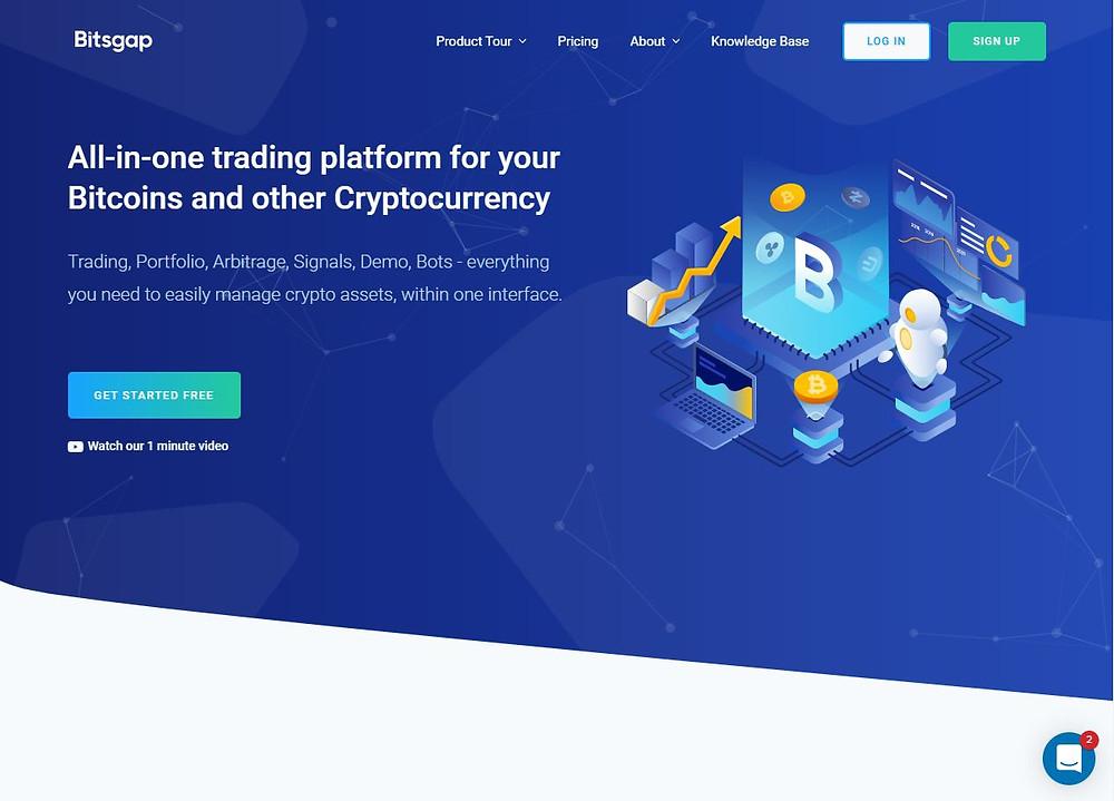 Bitsgap o melhor robô de criptomoeda, bot trading Binance, Bitfinex, OKex, Huobi, HitBTC, Bittrex, KuCoin, EXMO, Kraken, Cex.io, Livecoin, Poloniex, Bitstamp, Coinbene, ZB.com, CoinEx, Gemini, Gate.io