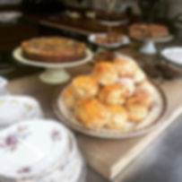 Freshly baked yummy scones this morning