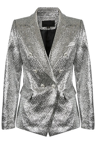 Silver Blazer with Silver buttons
