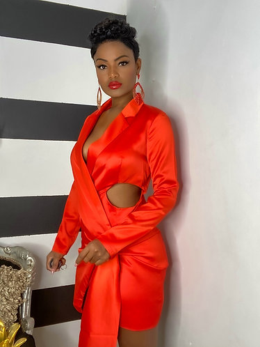 C H R I S T A L blazer dress