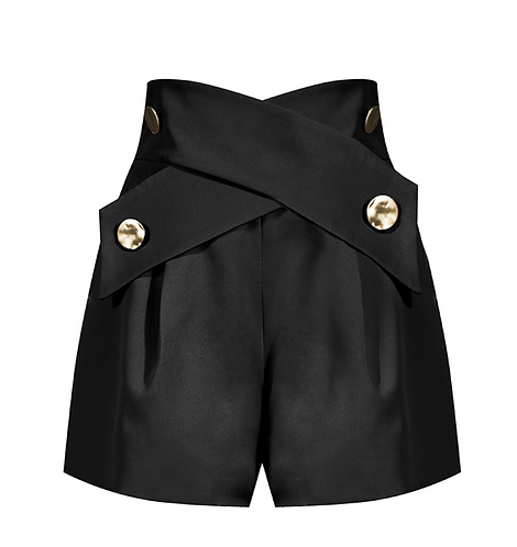 Cross Golden Button Short