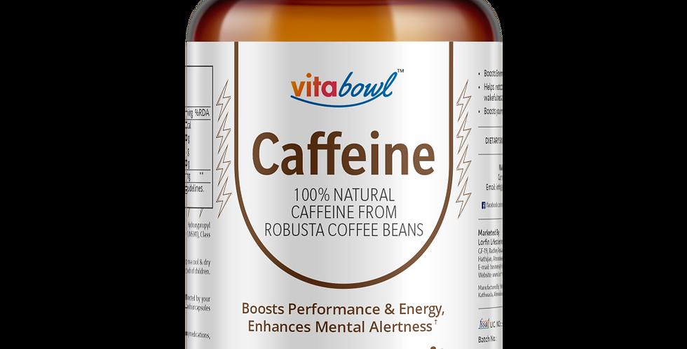 Caffeine (from Robusta Coffee Beans) Capsules | 60 Veg. Capsules
