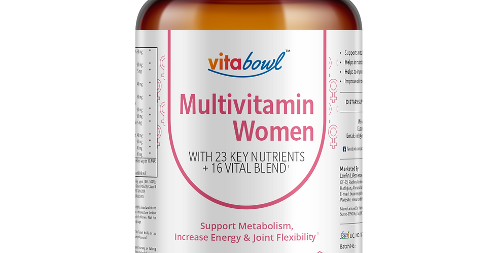Multivitamin Women Tablets | 60 Veg. Tablets