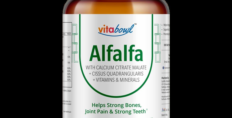 Alfalfa with Calcium, Cissus, Vitamins & Minerals Tablets | 60 Veg. Tablets