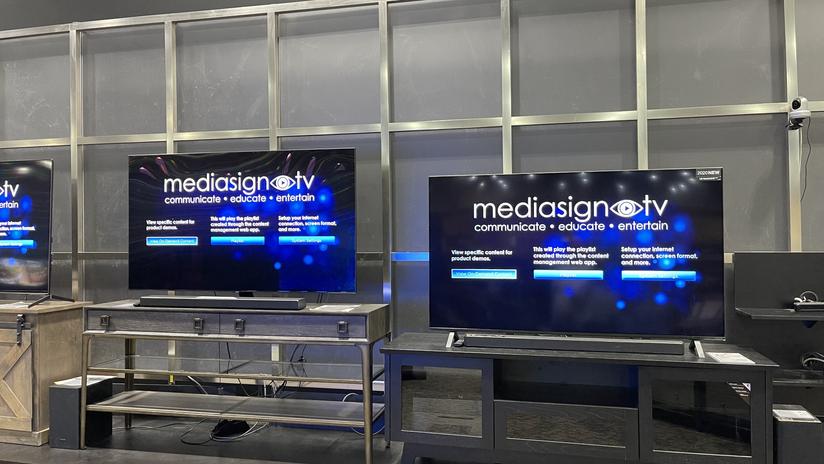 MediaSignTV Menu