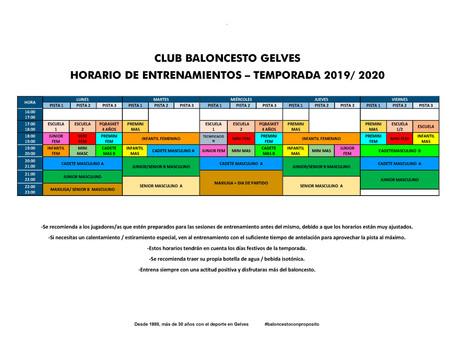 !COMENZAMOS¡ Actualizamos calendario y a partir del próximo lunes arrancamos la temporada.