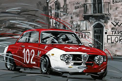 924_Alfa Romeo Giulia GTA_1971 Targa Florio_70x43cm
