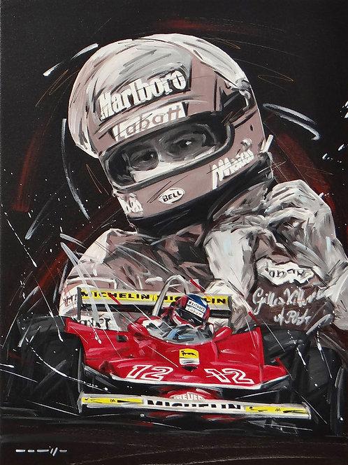 661_Gilles Villeneuve/Ferrari_60x45cm