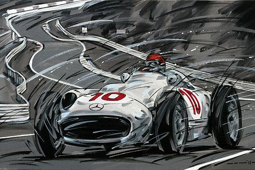 930_MB W196 #10_Nürburgring 1954_70x43cm