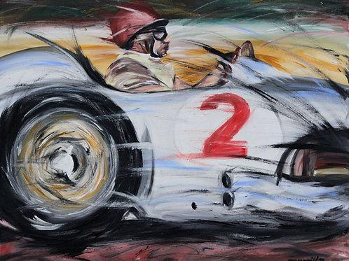 104_Fangio_Mercedes Benz_63x50cm