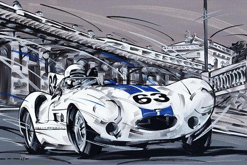 916_Jaguar D-Type_Monte Carlo_70x43cm
