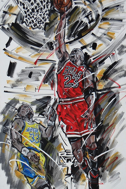 1278_NBA_Bull #23 M. Jordan 130x80