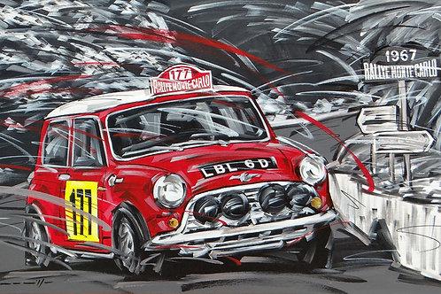 983_Mini Cooper #177 Rallye Monte Carlo 1967_70x43cm