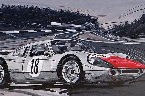 988_Porsche 904/6_70x35cm