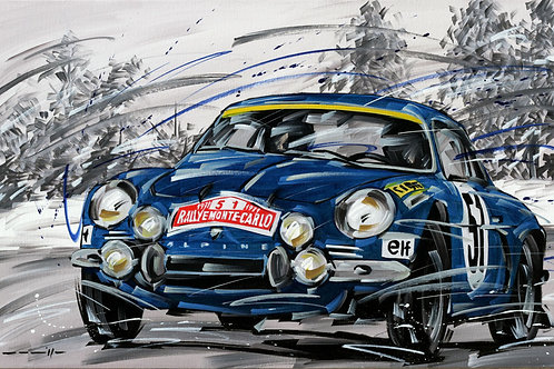 925_Alpine Renault_Rallye Monte Carlo_70x43cm