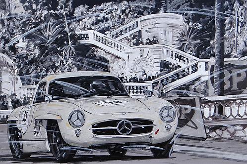 728_Mercedes Benz 300SL_Monte Carlo_70x43cm