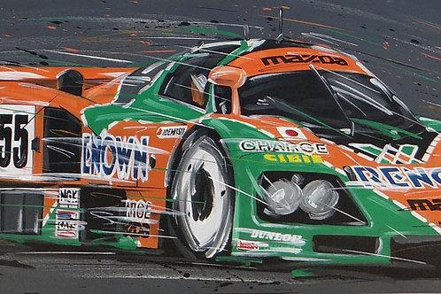 642_Mazda #55 Le Mans 1991_95x35cm