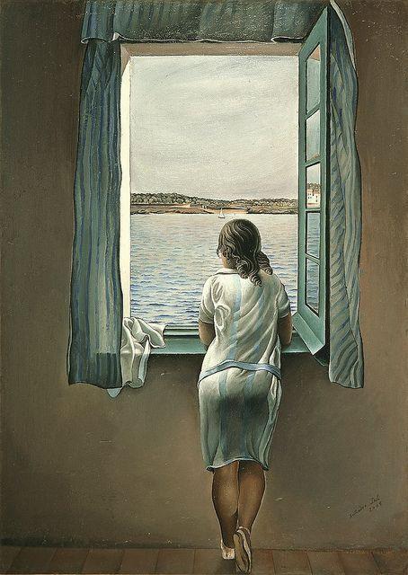 Muchacha en la ventana (1925), de Salvador Dalí.