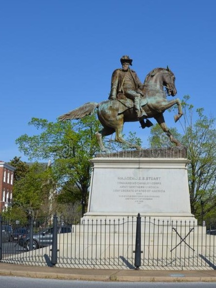Estátua racista. Richmond. Jeb Stuart Monument.