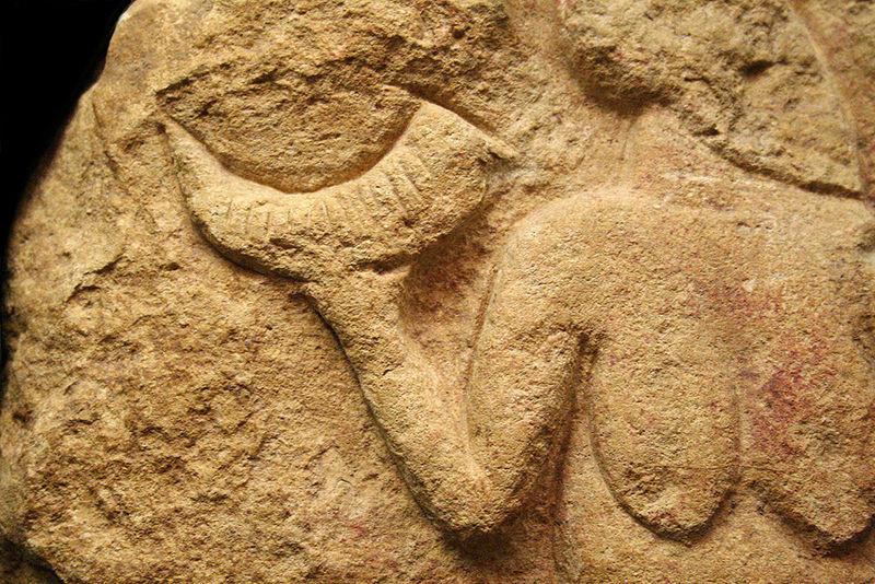 Venus de Laussel. Mulher com corno.