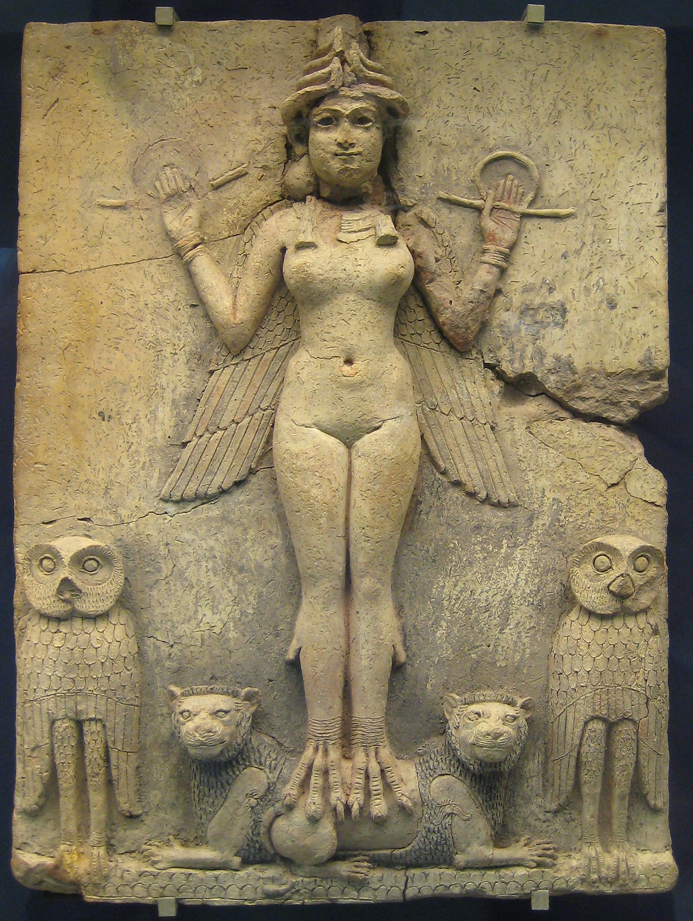 "The ""Burney Relief"", Ishtar, Ereshkigal. Inanna. Queen of the night."