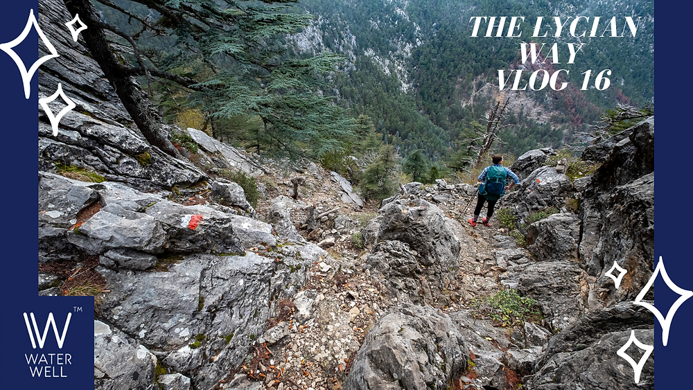 #16 Dry river beds, slippery rocks, many switchbacks…. & stealth camping….just another day on the Lycian Way!