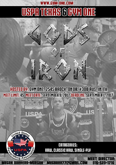2017 USPA Gods of Iron Powerlifting Meet