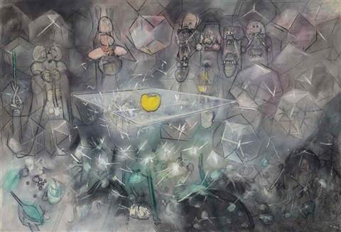 Şili'li ressam Roberto Matta'nın eseri