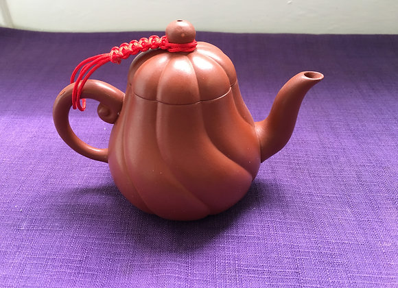 Traditional Tea Pot- Brown Pumpkin (Made in Taiwan) 南瓜茶壺