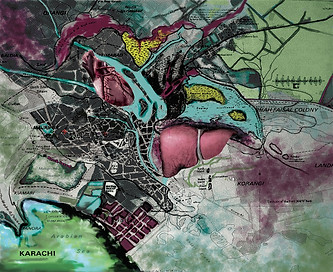Karachi heart map