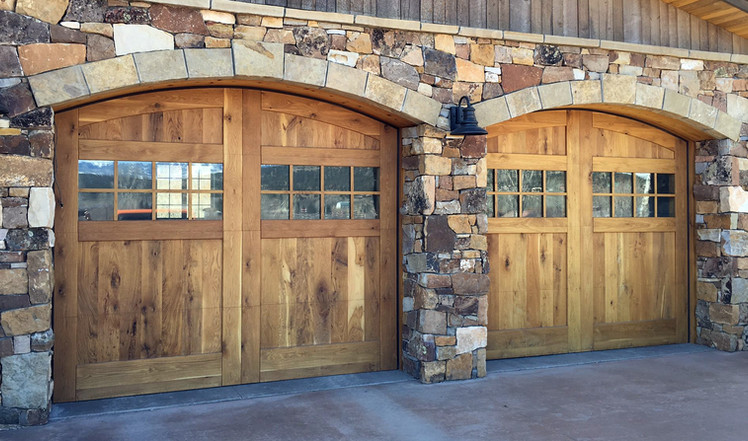 Wood Overlay with Arched reveal and windows