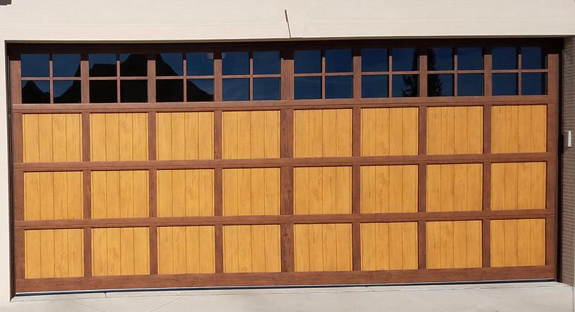 Martin Two Tone wood grain steel door