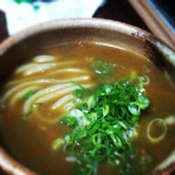 """カレーうどん(Homemade curry and """"udon)¥750"""